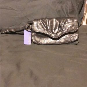 Claires silver/grey medium wristlet/clutch